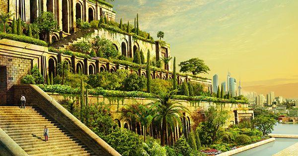 Hanginggardens history pinterest for Jardin suspendu babylone