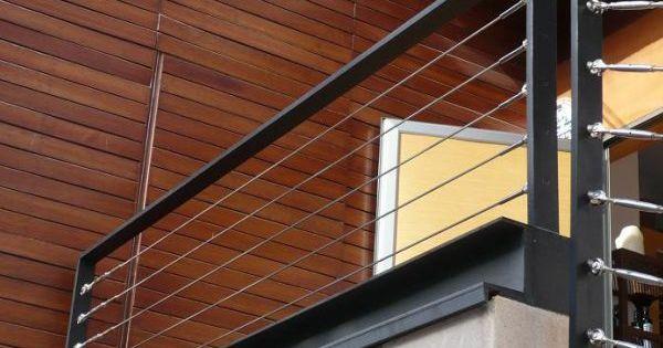 garde corps aluminium acier cables inox balustrade rambarde pinteres. Black Bedroom Furniture Sets. Home Design Ideas