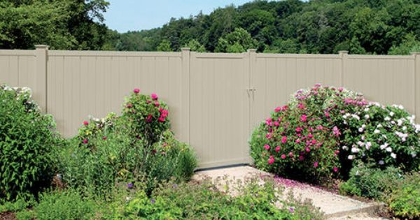 6 X 42 Quot Tan Vinyl Belmont Privacy Gate At Menards