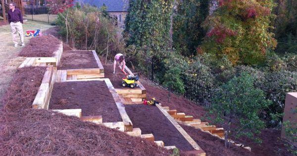 Beet terrassen gartengestaltung am hang garten ideen for Gartengestaltung urban