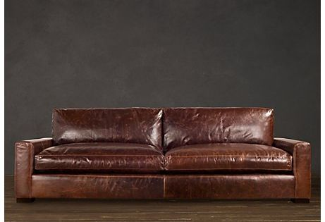 The Napa Oversized Seating Sofa Leather Sectional Leather Couch Leather Furniture