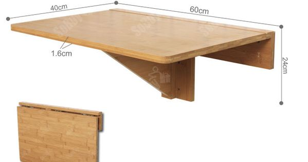 Fold away table and hangs on wall this double folding for Table murale retractable