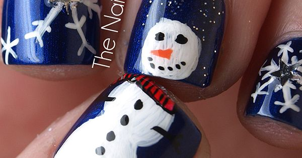 Snowman nails!!!!! Perfect nail design for the winter!!!