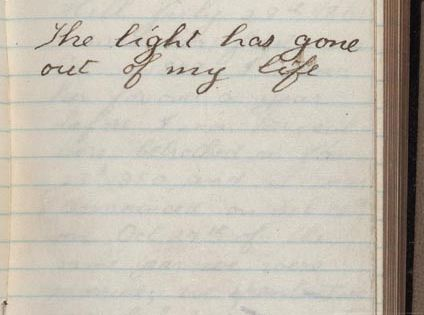 Teddy Roosevelt's diary entry from the day his wife died. He never