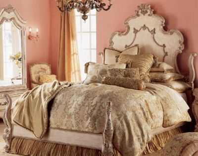 bedroom decor- reminds me of a princess room