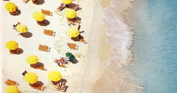 travelcolorfully yellow dotted beach