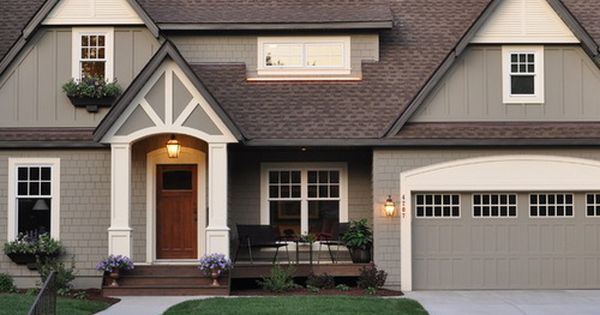 7 Popular Siding Materials To Consider: Mix Of Siding, Shake, And Board And Batten Home Design