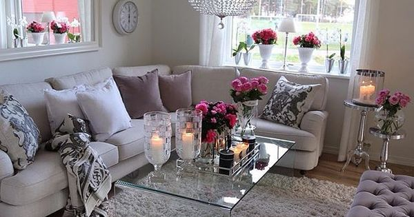 Realgirl08 My Mom House Pinterest Neutral Living Rooms Living Rooms And Purple