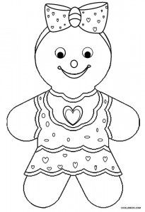 Gingerbread Girl Coloring Pages House Colouring Pages