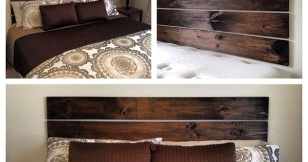 Guest Bedroom Headboard Idea - I Love This. four 1X6 boards, a