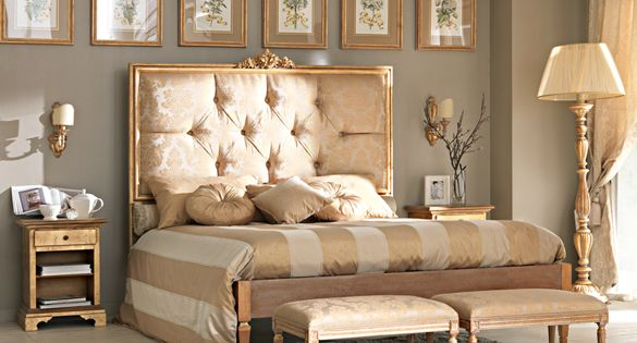Paris Collection gold Louis bed Headboard unpadded gold leaf.