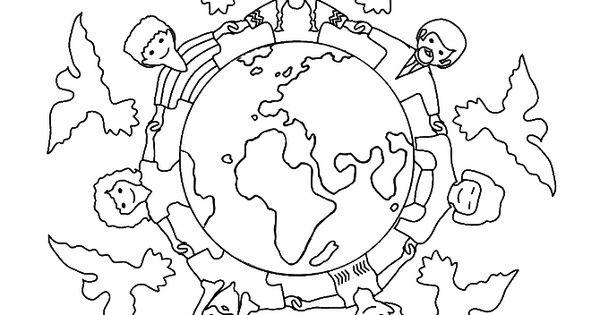 Christelijke Kleurplaten Schepping Vrede Kleurplaat Kleurplaten Pinterest