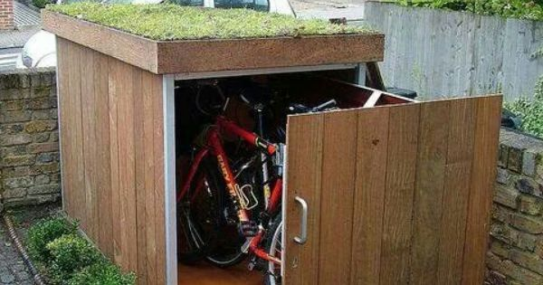 Para guardar bicis soluciones practicas fb pinterest for Caseta para guardar bicis