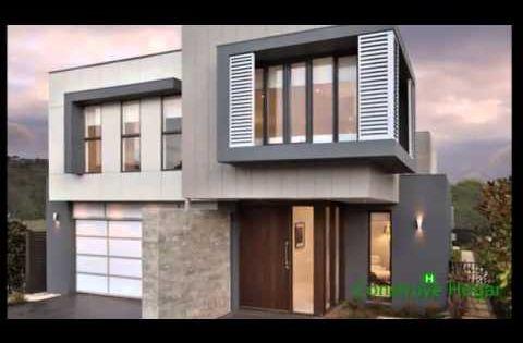 Planos de casas de dos pisos con fachadas modernas for Planos de casas sencillas