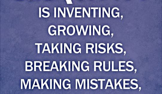 Pinterest Quotes About Creativity: Creativity Is Inventing, Growing, Taking Risks