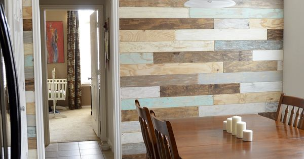 Multi Colored Pallet Wall Wonder If This Look Could Be