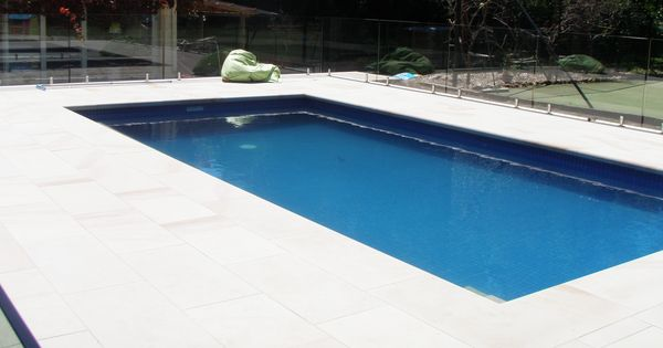 Mt White Sandstone Pool Surround With 75mm Bullnosed