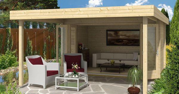 gartenhaus holstein 40 mit gro er faltt r gartenh user pergola schatten und g rten. Black Bedroom Furniture Sets. Home Design Ideas