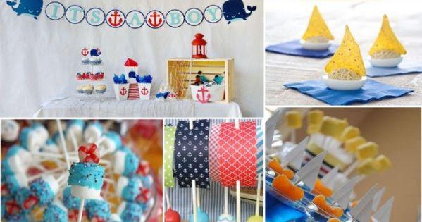 ideas para festejar un baby shower al estilo marinero baby shower