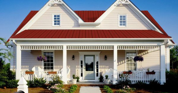 Best White With Red Metal Roof Home Exterior Pinterest 400 x 300
