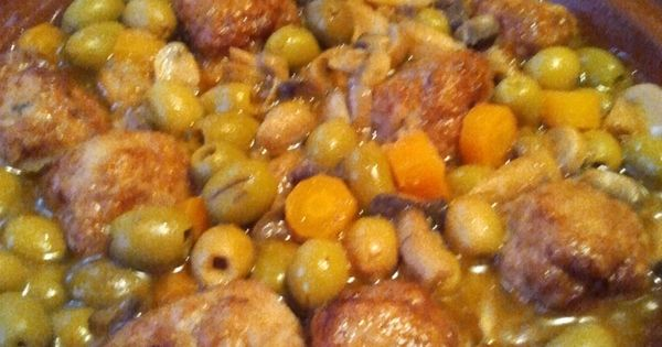 Tajine au boulettes de viande hach e de poulet au - Facebook cuisine algerienne ...