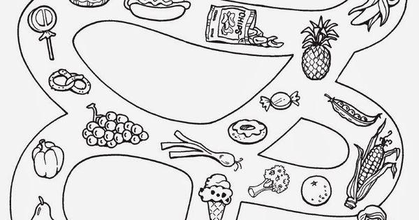 Saglikli Yiyecekler Boyama Google Da Ara Saglikli Okul