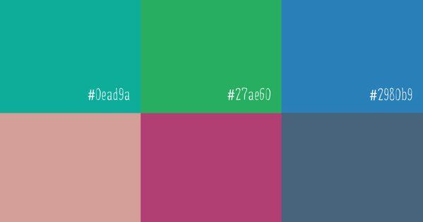 Flat Colour inspiration for web design via infinpixels webdesign flatdesign