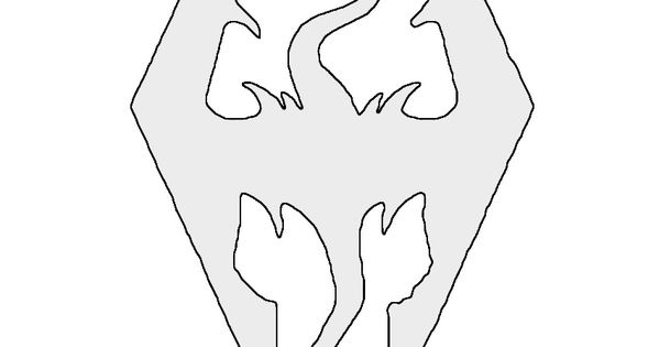 Skyrim Tattoo Stencil: Skyrim Logo Stencil