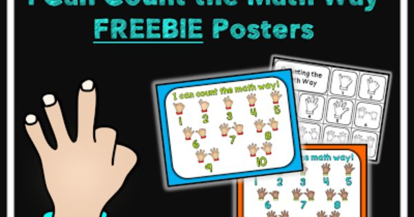 I Can Count The Math Way Includes 3 Free Posters To Help Students Count A Special Math Way 2 Color Posters And 1 Math Freebie Math Kindergarten Anchor Charts