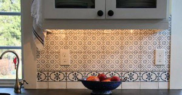 Carrelage mural en terre cuite de cuisine motif for Carrelage en terre cuite prix