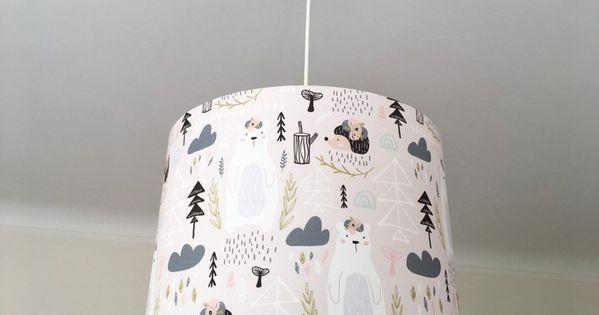 Lampenschirm Kinderzimmer Lampe Madchen Kinderlampe Rosa Kinderzimmerlampe Tiere Wolken Igel Waldtiere Lampe Boho Boho Deko Lamp Shade Home Decor Lamp
