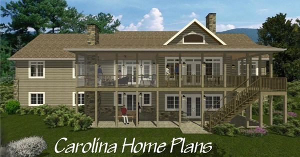 One story craftsman style houseplan with walk out basement for Craftsman style screened porch