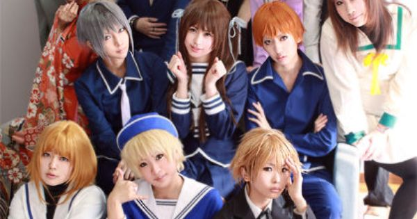 Sohma family and Tohru..Fruits Basket. Credit goes to the cosplayers