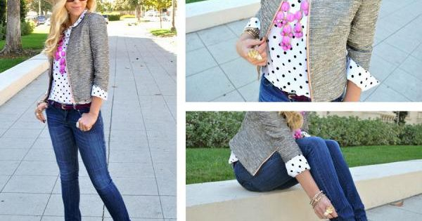 polka dots for casual friday!
