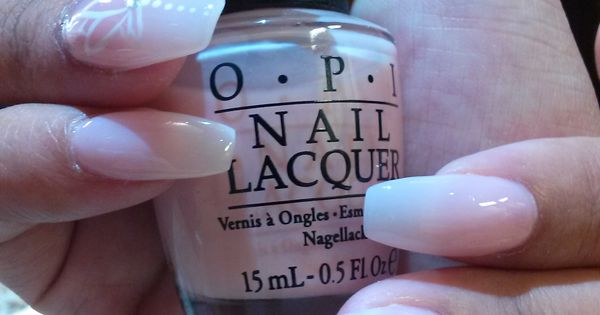 16 White Lotus Coffin Shaped Acrylic Nails With Sheer -3472
