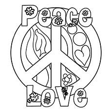 Top 25 Free Printable Peace Sign Coloring Pages Online Love Coloring Pages Flower Coloring Pages Printable Flower Coloring Pages