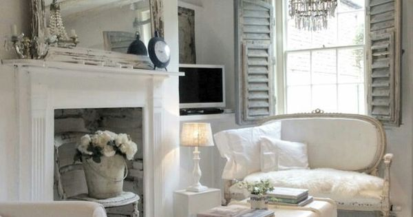 Beautiful Romantic White Living Room Pinned From Vintage