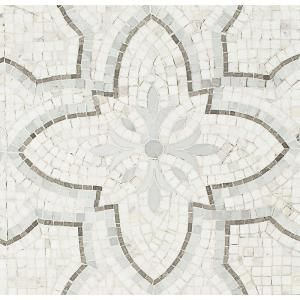 Ivy Hill Tile Garden White Gray 12 In X 12 In X 10 Mm Marble Mosaic Tile Ext3rd101216 The Home Depot Marble Mosaic Tiles Ivy Hill Tile Mosaic Tiles