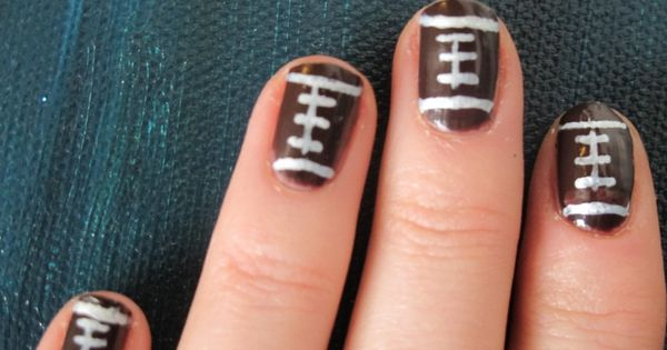 football nails! So ready for football season!!!