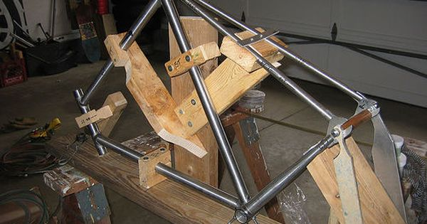 yet another homemade bicycle frame building jig http