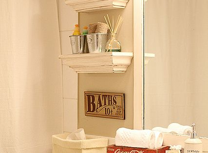 small bathroom shelves