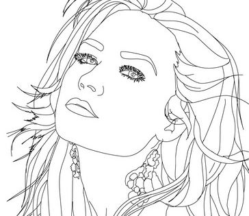 demi lovoto coloring pages | Demi Lovato | Adult Colouring~Femme~ Goddesses~Beautiful ...
