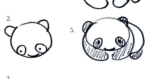How to draw a panda | art doodling