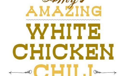 White chicken chili, White chicken and Chicken chili on Pinterest