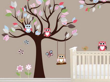 10 encantadores dormitorios de beb las nenas nena y for Vinilos para nenas