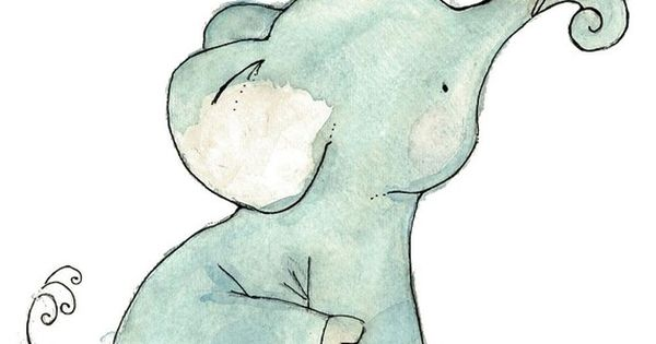 Nursery Art Royal Elephant Art Print by trafalgarssquare