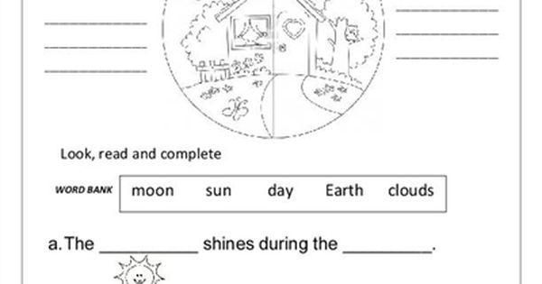 Day And Night Worksheet Free Esl Printable Worksheets