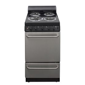 Premier Freestanding 2 4 Cu Ft Electric Range Stainless Steel Common 20 In Actual 20 125 In Eak6 Freestanding Electric Ranges Electric Range Small Stove