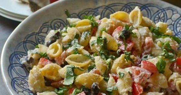 Roasted Garlic, Olive and Tomato Pasta Salad | Recipe | Pasta Salad ...