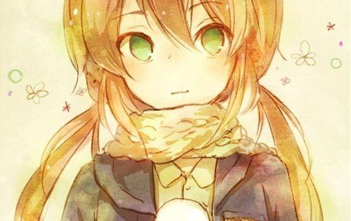 blonde Anime pigtails girl